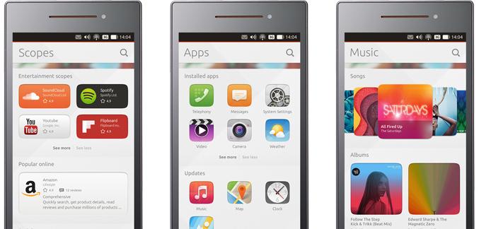 Scopes ubuntu phone